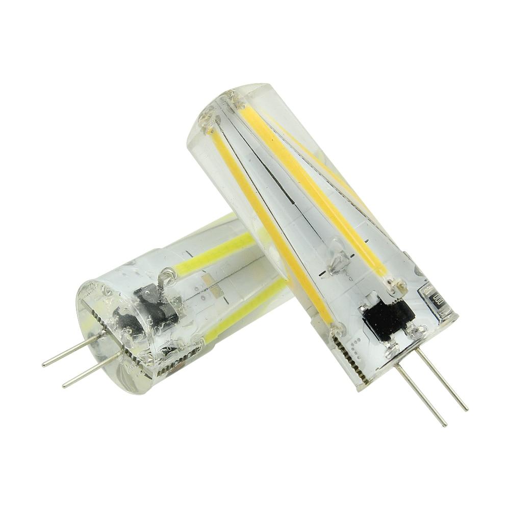 1pcs Ampoule Silicone G4 3W COB Filament LED Lamp AC DC 12V Spotlight Bombillas Bulb Replace 20W 30W Halogen Light Home Lamparas