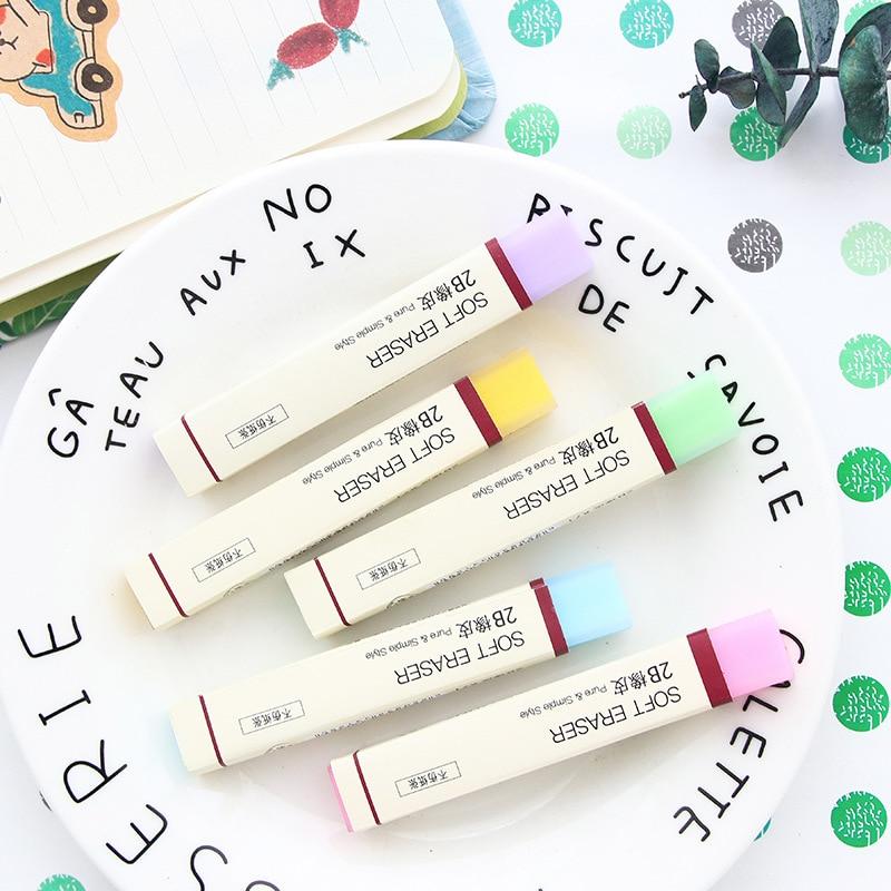 Borracha macia do estilo puro & simples para borrachas 2b lápis cor jelly vara artigos de papelaria material de escritório material escolar