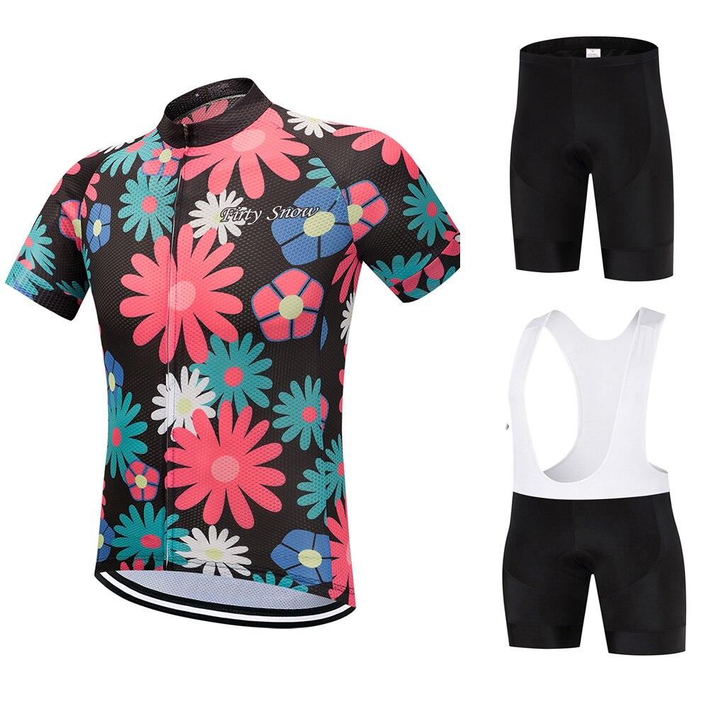 Ropa Deportiva Firty Snow 2018 pro team, ropa deportiva para bicicleta, ropa deportiva para exterior, camiseta de ciclismo y pantalones cortos, conjunto de chaqueta, ropa para ciclismo, flor roja