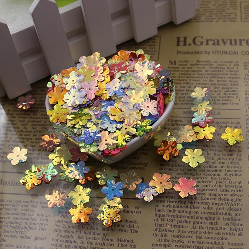 100p 13 мм свободные блёстки в форме цветка ПВХ блестки Diy платье аксессуары пошива одежды отделка для одежды ремесла оптовая продажа