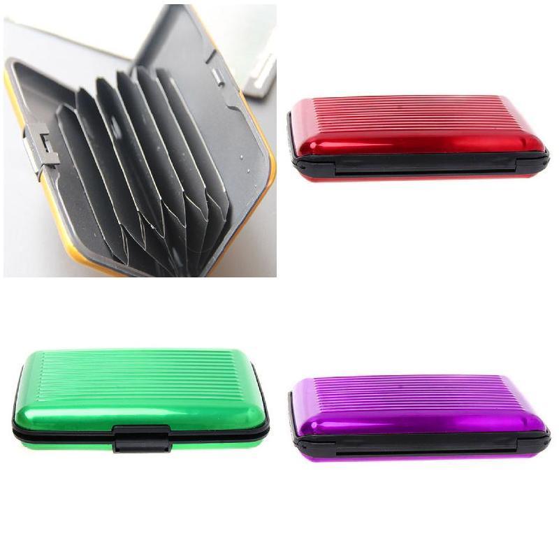 Nueva billetera metálica de aluminio, estuche protector para tarjetas de crédito de identificación de negocios, Anti RFID tarjeteros de escaneo para hombres y mujeres