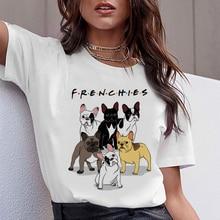 Teckel carlin Teckel drôle T-shirt femmes Harajuku mignon bouledogue français Frances berger allemand T-shirt Pit Bull T-shirt haut femme