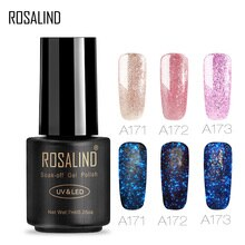 Vernis à ongles ROSALIND 7 ML brillant Gel or Rose vernis à ongles ensemble pour la conception dextension dongle manucure hybride Gel vernis Art des ongles
