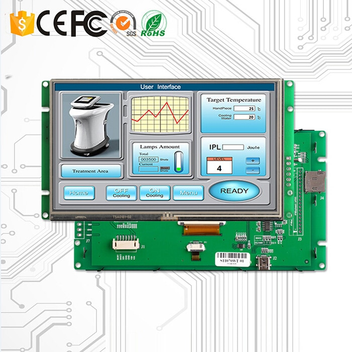 10.1 Inch RS232 LCD Display Touch Panel Drive Board And Board Controller