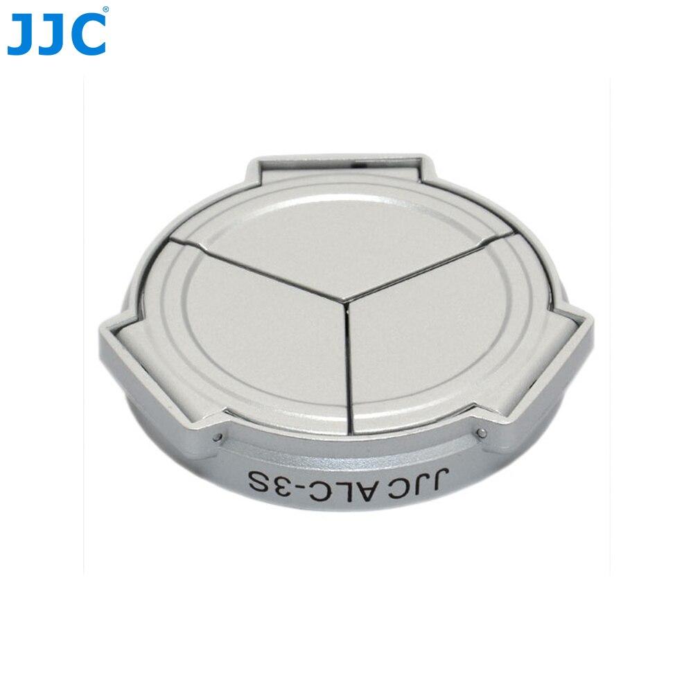 JJC Fotocamera Argento Self-Ritegno Open Close Protezione Auto Copriobiettivo per PANASONIC DMC-LX3/Leica D-Lux4 (argento)