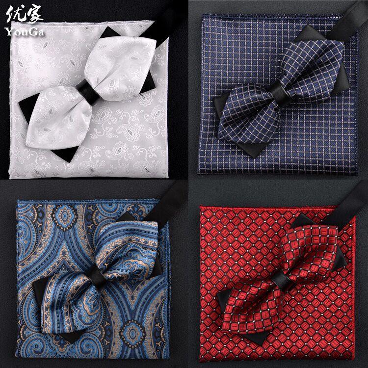 Мужской галстук-бабочка и носовой платок SHENNAIWEI 2016, модный мужской галстук-бабочка с драгоценными камнями