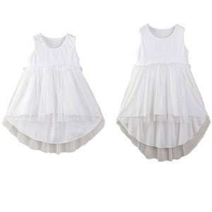 Sleeveless family look matching clothes mother daughter mesh tulle dress mother and daughter clothes mommy and me dresses