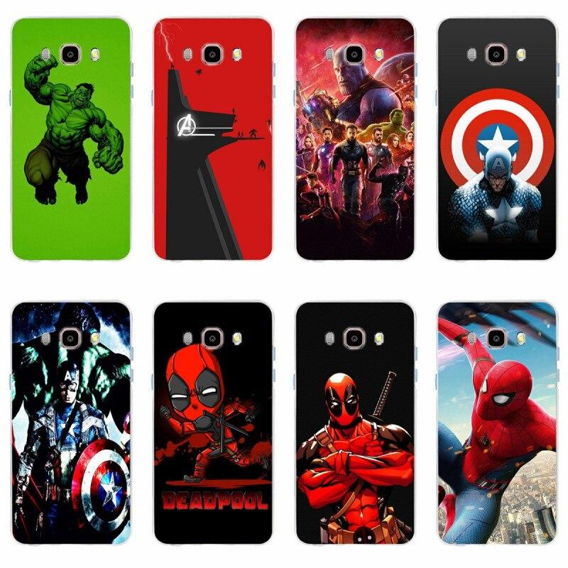 Los vengadores de marvel Capitán América escudo funda para teléfono móvil de iron man para Samsung Galaxy S6 S6edge A7 S7 Edge S8 S9 más A5 J5 J7 2016