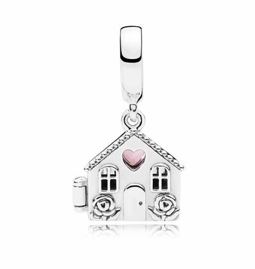 Btuamb, простой стиль, полый замок, сердце, цветок, подвеска, бусины, подходят для Pandora, браслеты и ювелирные женские браслеты, изготовление