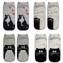 แมวถุงเท้า 3Dผู้หญิงถุงเท้าผู้หญิงถุงเท้าข้อเท้าต่ำCasualพิมพ์ถุงเท้า