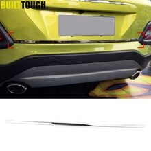 For Hyundai Kona Encino Kauai 2017 2018 2019 Chrome Rear Trunk Tailgate Boot Back Door Lid Edge Cover Trim Strip Molding Garnish