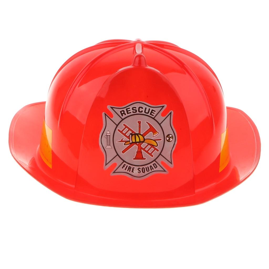Искусственный пожарный шлем, шапка Пожарника, детская игрушка косплей, красный