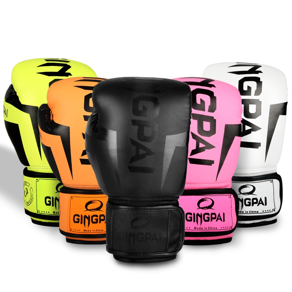 white 10oz boxing gloves mma kick boxing training muay thai men fitness gloves for adult kids free shipping 6/8/10/12OZ Colorful Boxing Gloves Adult PU Foam Adult Kick Kickboxing Training Boxing mma Glove Gloves Muay Thai Sandbag gloves