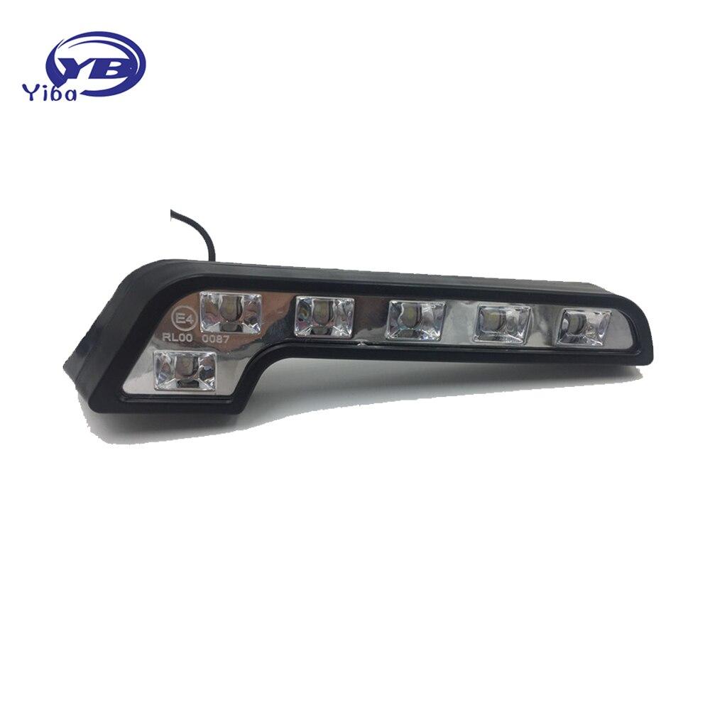 Auto 6 E4 COB LED Farol Do Carro Luz de Circulação Diurna Dia luz de Nevoeiro Luz de Condução Off Road Estacionamento Fonte de Luz kit DRL W124 W204