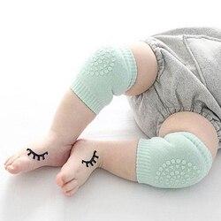 Protetor de perna para joelho, 1 par de joelheiras infantis para bebês, crianças pequenas, antiderrapante, acessório para engatinhar