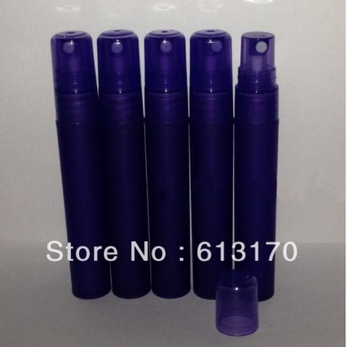8 ml/8g garrafas de perfume plástico 8cc vazio spray garrafa roxo escuro portátil atomizador parfum frascos recarregáveis frete grátis
