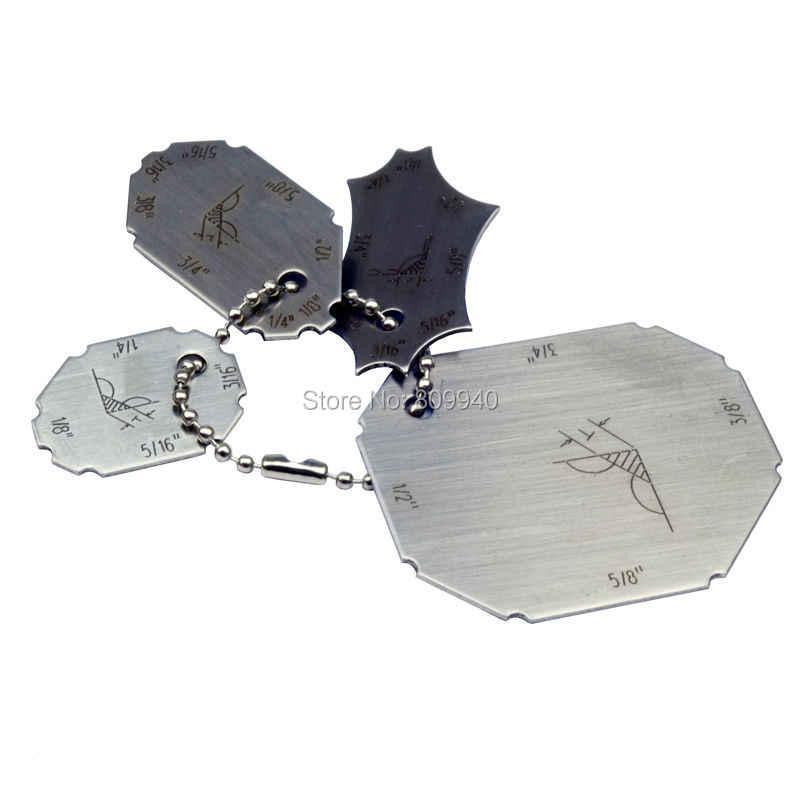 Welding Gauge Key Pocket Gage 4 Pieces Set Weld Seam Test Ulnar Inspection Ruler Welding Gauge Seam Weldinggauge Welding Aliexpress