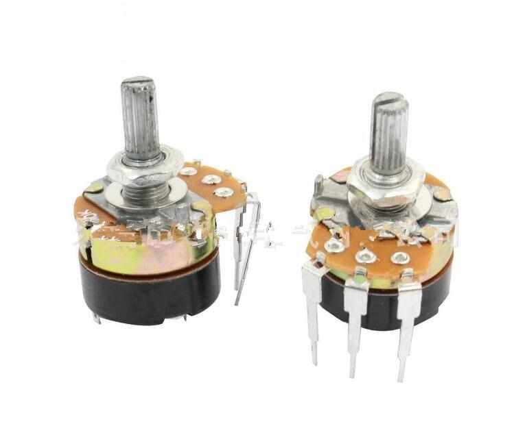 Free shipping 5PCS WH138-1 B5K B50K B500K Potentiometer with switch potentiometer