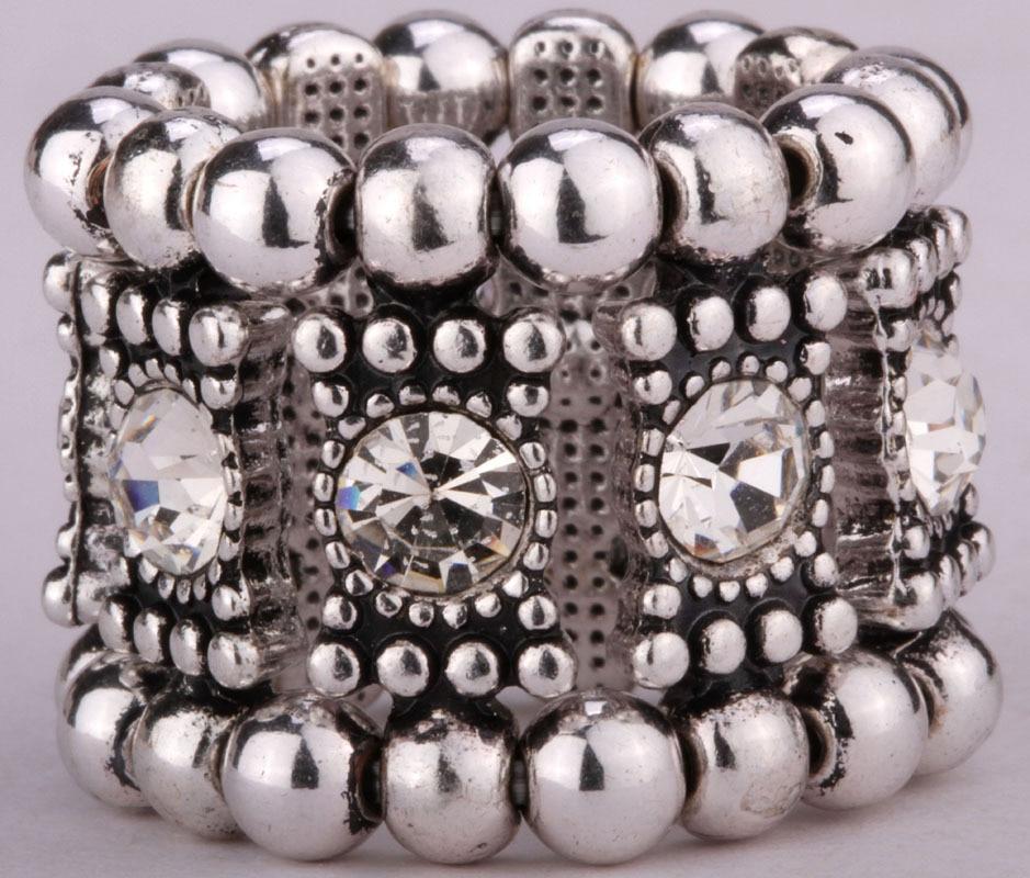 Stretch band ring for women girls W/ crystal cute fashion jewelry A1