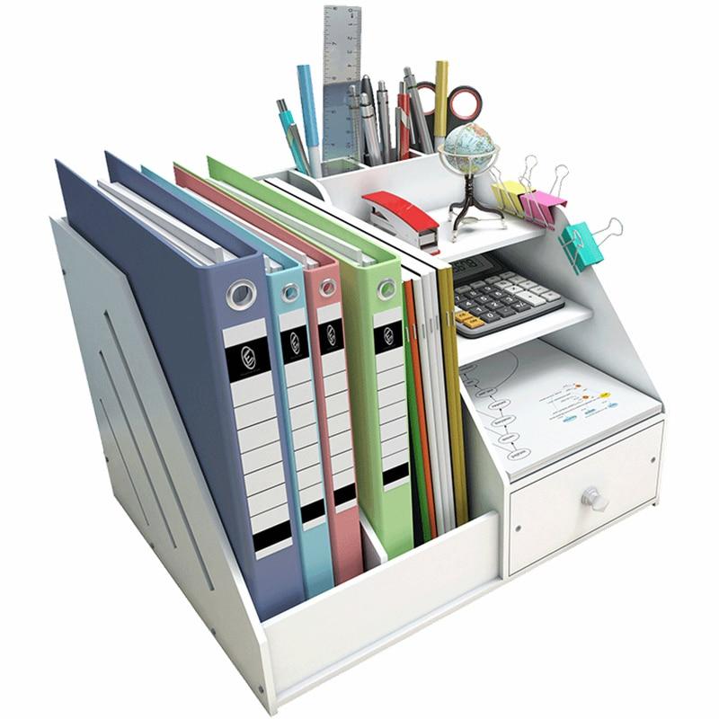DIY органайзер для журналов, настольный органайзер, держатель для книг, стол, канцелярские принадлежности, пластиковая подставка для хранени...