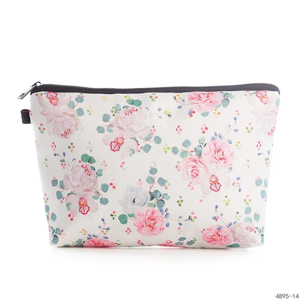Miyahouse flor impresa mujer Mack UP bolsa de lona de alta calidad diseño femenino bolso cosmético Mini bolsa de viaje de moda para niñas