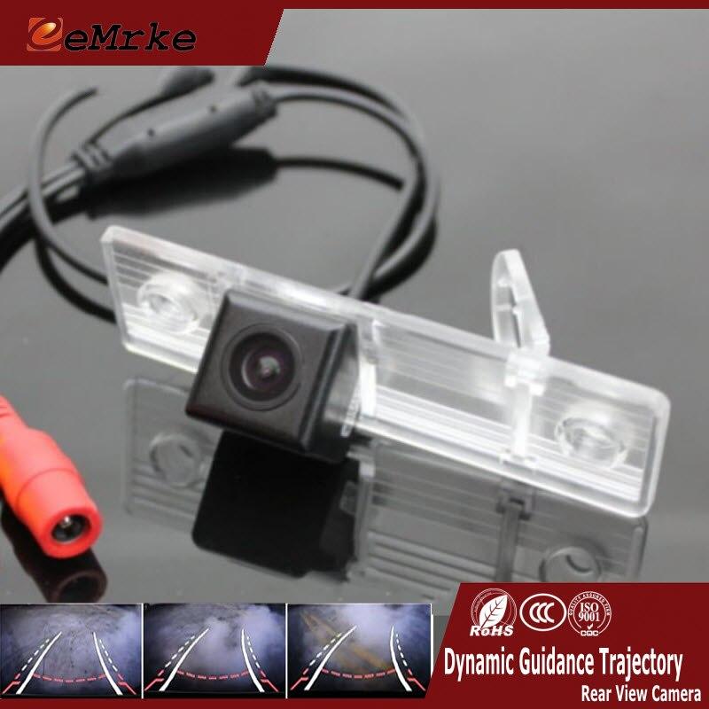 EEMRKE Para Chevrolet Aveo T200 T250 KLAS 2003-2012 Faixas de Visão Traseira Do Carro Da Câmera Com Orientação Dinâmica Trajetória NTSC