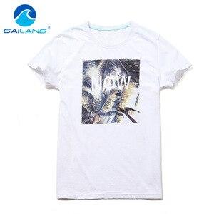Gailang Brand Men T Shirts Short Sleeve Cotton Mens T-shirt O Neck Shirts Print Leisure tshirt Plus Size Top Tees Man Slim Fit