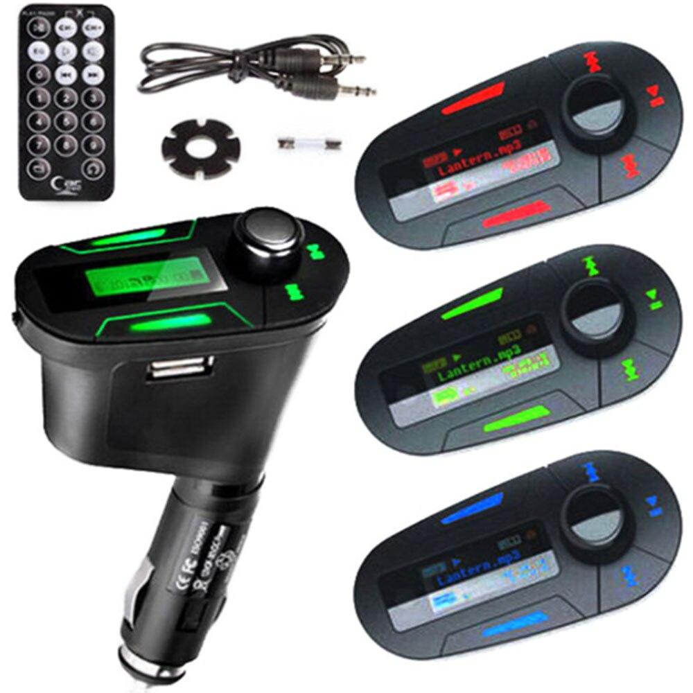 3.5 milímetros Carro MP3 Player com Som Perfeito MP3 Jogador Transmissor FM Sem Fio USB SD MMC Transmissor FM Sem Fio Modulador kit para carro