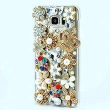 LaMaDiaa Bling Strass Kristall Diamant Crown Soft Zurück Telefon Fall Abdeckung Für Samsung S10 S7 rand S8 S9 Plus N5 hinweis 8 Hinweis 10