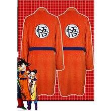 Adulte peignoir Dragon Ball Cosplay Son Goku déguisement homme femmes peignoir de bain vêtements de nuit modèle peluche Robe femmes hommes pyjamas dessin animé