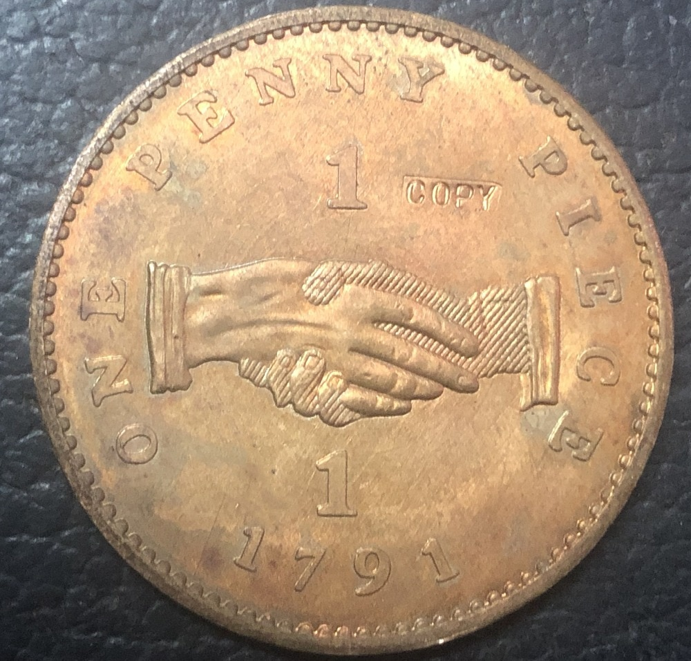 1791 Sierra Leone 1 Penny Sierra Leone Company; larger type Copper Coin 32mm