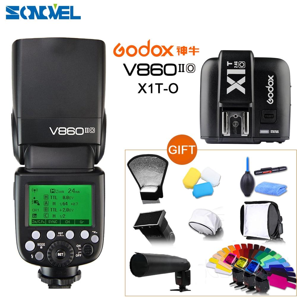 Godox Ving V860II-O TTL flash de la Cámara + X1T-O transmisor HSS 1/8000 batería Li-Ion TTL Speedlite Flash para Olympus Panasonic