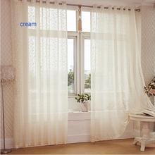 Tissu de panneau pour rideaux de porte fenêtre   Tissu de panneau de rideaux en tulle pure jacquard moderne rustique en livraison gratuite