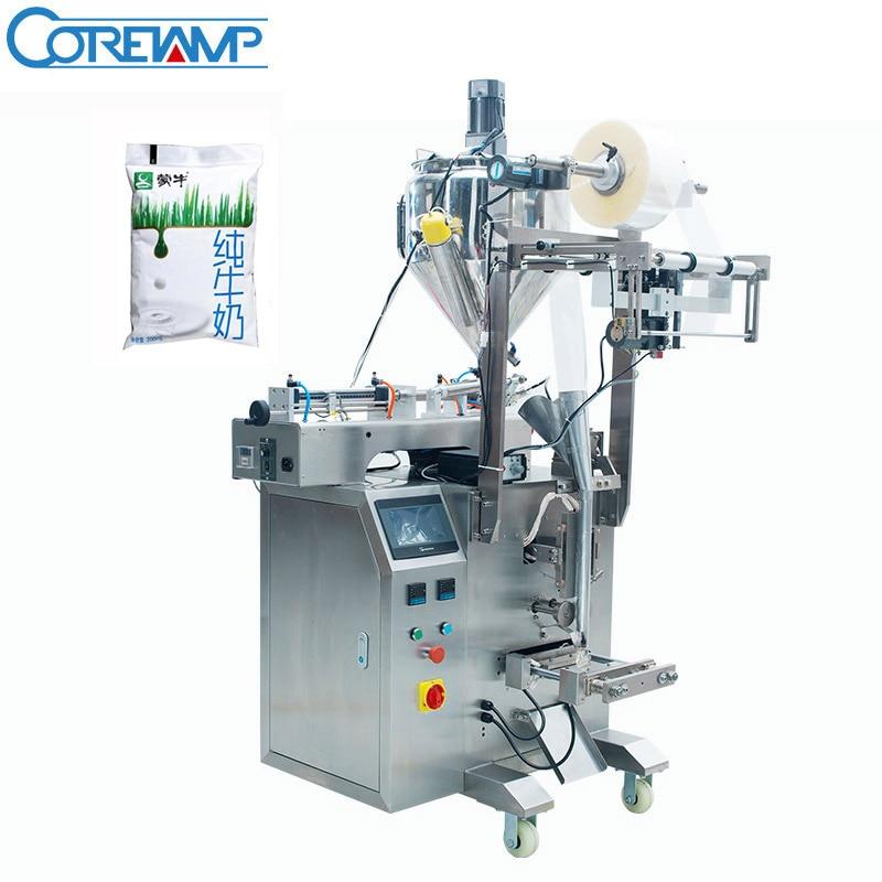 Máquina empaquetadora de leche líquida fresca bolsa de plástico pequeña automática precio