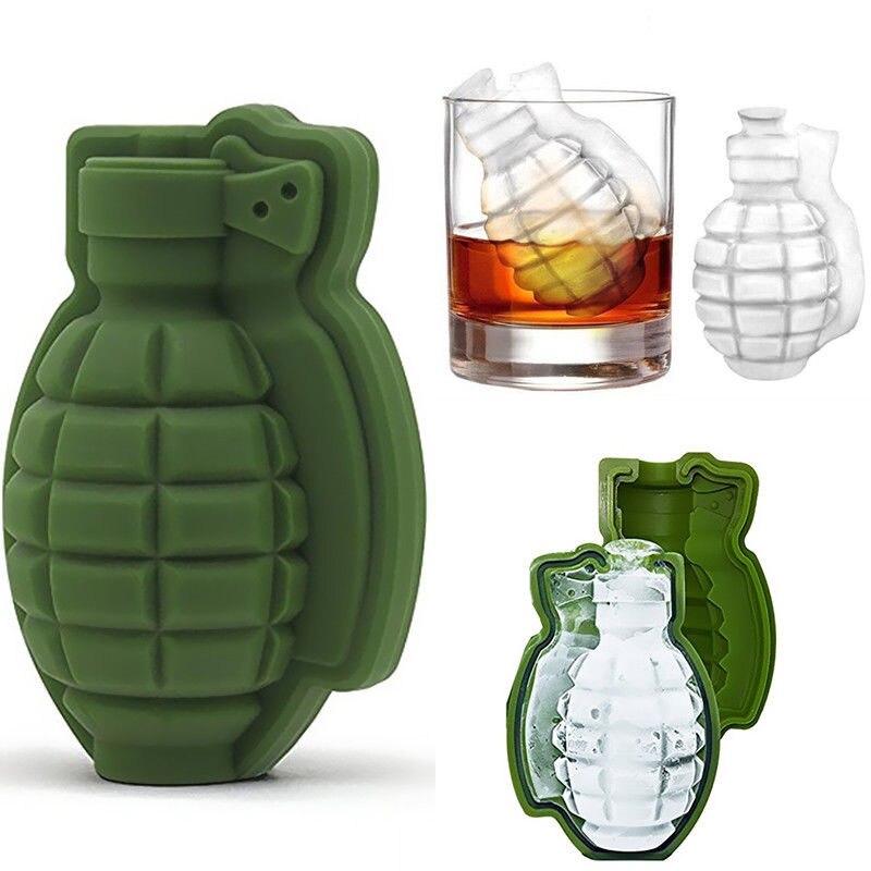 Creatieve 3D форма Гранаты лоток с формой для кубиков льда Ijs Maker вечерние бар Drankjes Whiskey Wijn Ijs Maker Siliconen Bar Accessoires