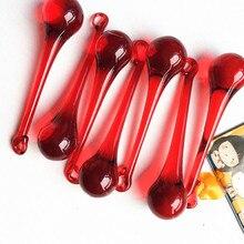 Top qualité 20 pièces/lot Dia 20x80mm cristal rouge éclairage pluie goutte prismes pour suspendre des pendentifs de lustre en verre, pièces déclairage,