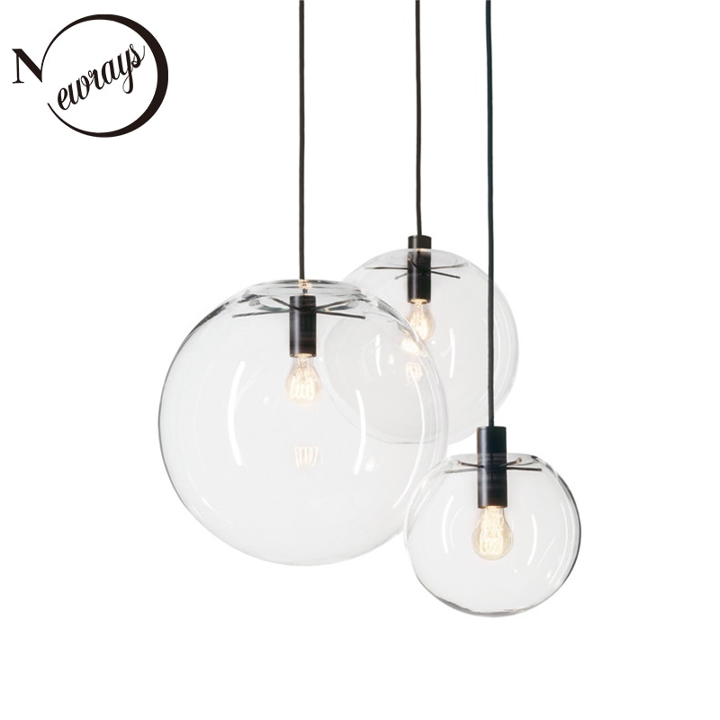 الحديثة بسيطة مطعم LED E27 قلادة ضوء غرفة المعيشة الزجاج مصباح غرفة نوم السرير الدرج الديكور الداخلي مصباح معلق