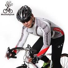 Mountainpeak Cycling Suit Men Long Sleeve Thin Fleece Cycling Clothing Winter Warm Riding Suit  Winter Cycling Set