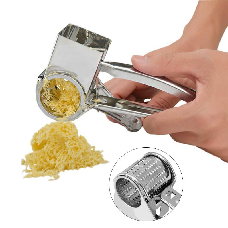Multi-función de acero inoxidable rallador de queso rallador pelador manual rotativo herramienta de jengibre cortador de mantequilla herramientas de cocina