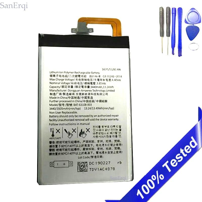 BAT-63108-003, batería para BlackBerry KEYone, 3440mAh, SanErqi