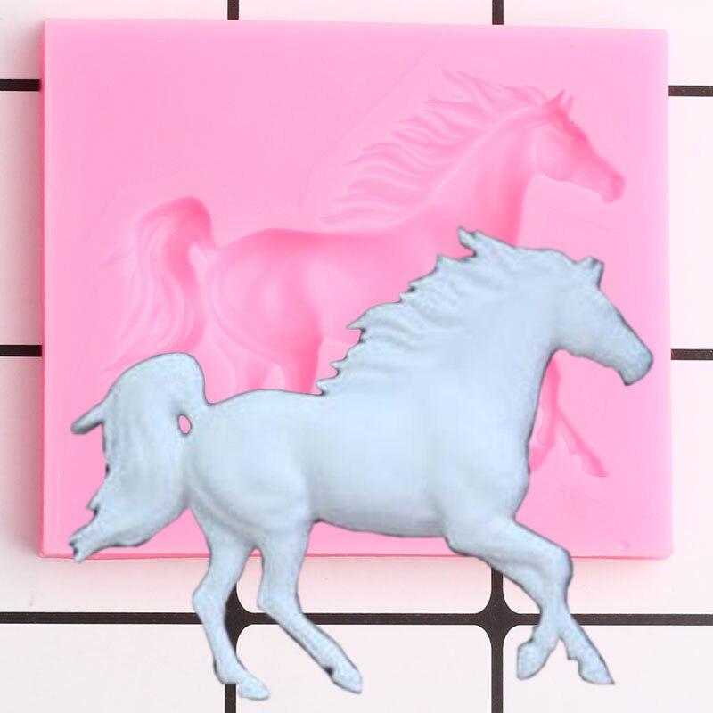 3d pegasus molde de silicone cavalo doces chocolate fondant moldes diy bolo de aniversário do bebê ferramentas de decoração sabão molde de argila de polímero