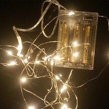 Yiyang led estrelado luzes da corda de fadas micro transparente fio cobre bateria luzes 2 m 3 m 5 m 10 m festa natal decoração do casamento