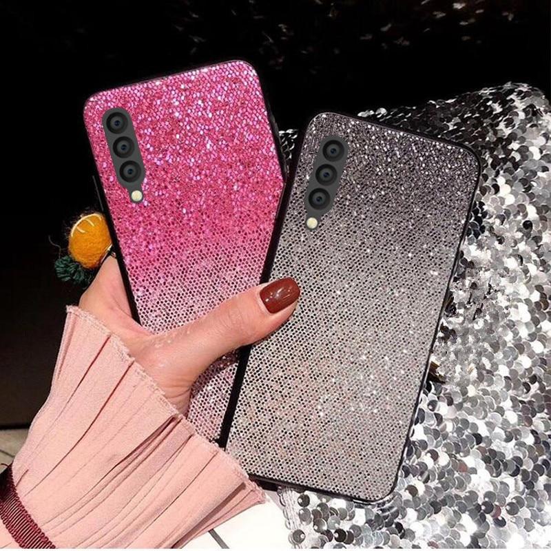 Shining Glitter Bling Case For Samsung Galaxy A50 A30 A20 A10 A40 Back Cover For Samsung Galaxy A70 A 50 Phone Bags Coque Fundas