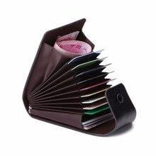 Mode Unisex Zaken ID Credit Card Wallet Holder Naamkaartjes Case Pocket Organisator 9 Kaartsleuven + 2 Multi- functionele Positie