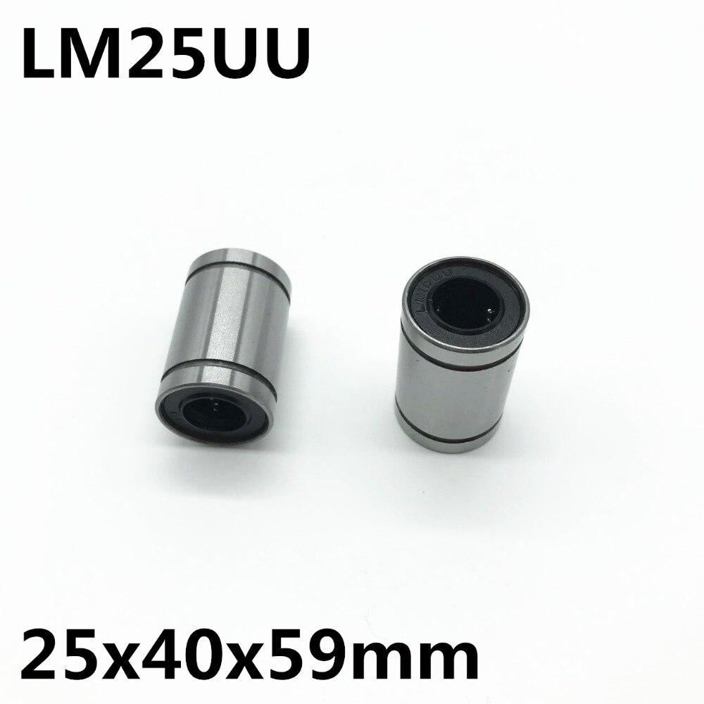 5 قطعة LM25UU الكرة تحمل القطر الداخلي 25x40x59 مللي متر دليل المحور البصري الخطي محامل الحركة الخطية محامل عالية الجودة