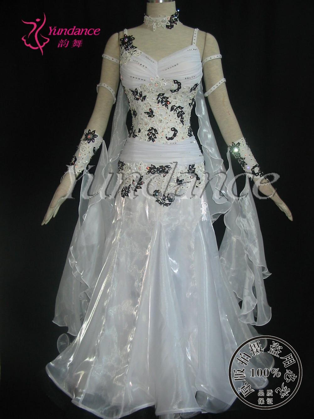 B-10188 blanco princesa vestido de baile estándar elegante vestido 2016