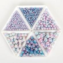 Perle artificielle de 4mm en ABS, pour Bracelet, accessoires de bijoux, sac artisanal, 500 pièces, vente en gros, collier à faire soi-même pièces