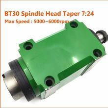 BT30 7:24 Taper 1.5KW 2HP 5000~6000rpm Milling Spindle Head + BT30 Toolholder ER20 Spring Chuck Tool Holder+ER20 Collet Set