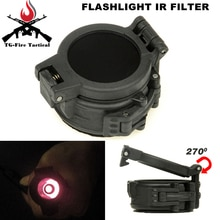 Airsoft linterna táctica IR filtro M300 + M600 M300A y M600C infrarrojo IR filtro Airsoft deportes táctico M300 diámetro 25mm