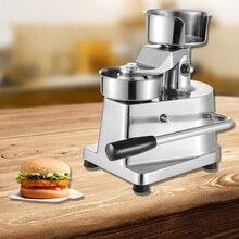 Máquina Manual para hacer hamburguesas y hamburguesas, máquina para formar carne redonda, máquina para hacer hamburguesas y hamburguesas, 500 almohadillas de 13cm de diámetro